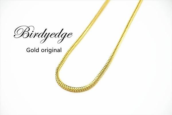 【Birdy Edge】壓花 特殊花色 訂製 品牌 金項鍊 淺金 不退色過敏 品質 項鍊男