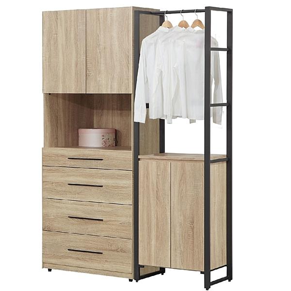 【森可家居】哈佛5尺組合衣櫃(4+2)  7JF041-2 衣櫥 MIT台灣製造