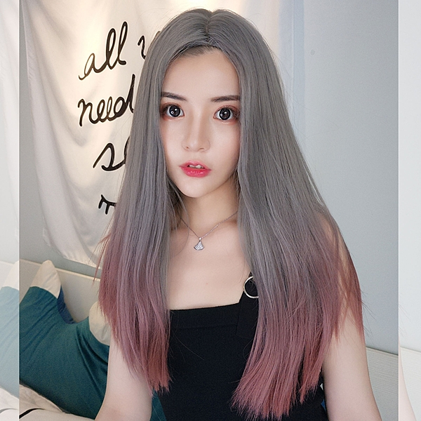 網紅最愛 假髮 時尚 COS 中分漸變長直髮【MC526】☆雙兒網☆