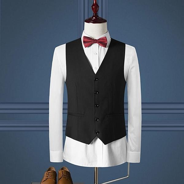 快速出貨 SAROUYA英倫修身西裝馬甲男士西服馬夾商務休閒職業正裝