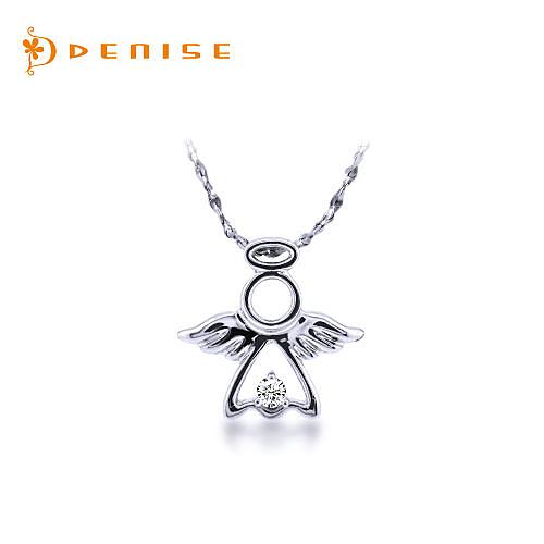 項鍊 925純銀鍍白金墜「小天使項鍊」珠寶銀飾禮品/情人禮物