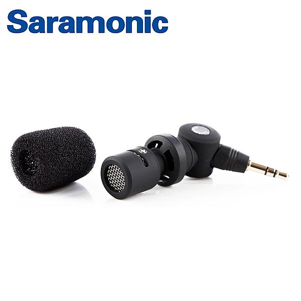 ◎相機專家◎ Saramonic 3.5mm迷你麥克風 SR-XM1 可使用UwMic SmartMixer LavMic 勝興公司貨