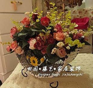 白蓮盆歐式玫瑰花套裝