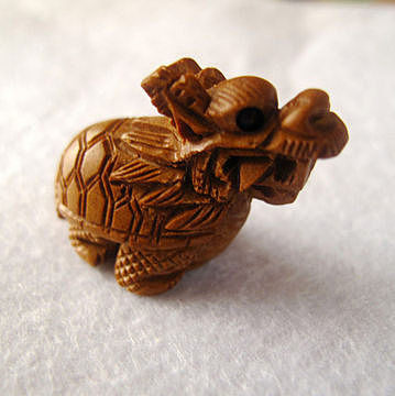 開光桃木龍龜
