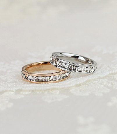 最高版時尚氣質 鍍玫瑰金滿鑽戒指女指環尾戒彩金戒指婚戒指