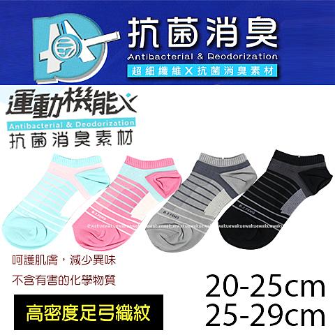 【衣襪酷】運動機能 超細纖維 船襪 抗菌消臭素材 台灣製