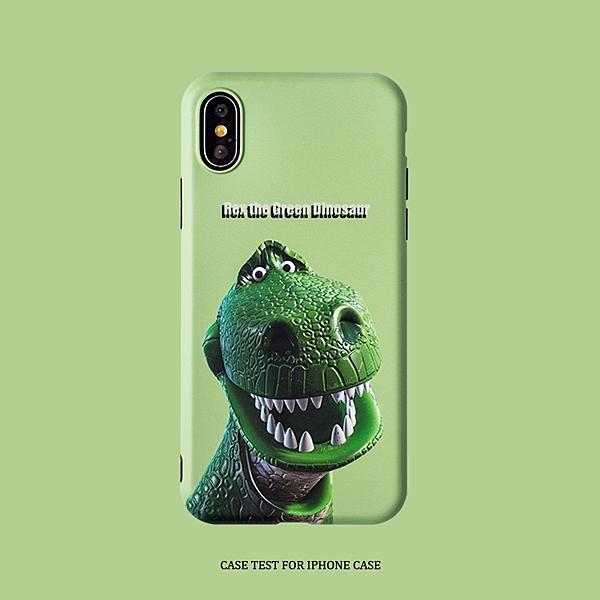? iPhone11ProMax 蘋果手機殼 可掛繩 美式復古 搞笑綠恐龍 iX/i8/i7/i6/6sPlus