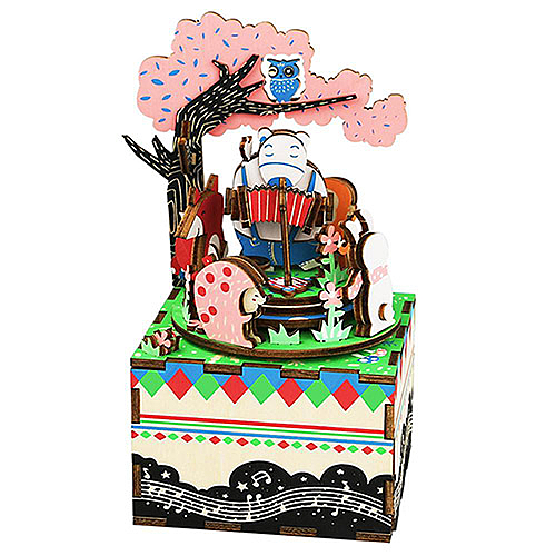 《 Robotime  》3D木製拼圖 - AM404音樂盒系列森林音樂會╭★ JOYBUS玩具百貨
