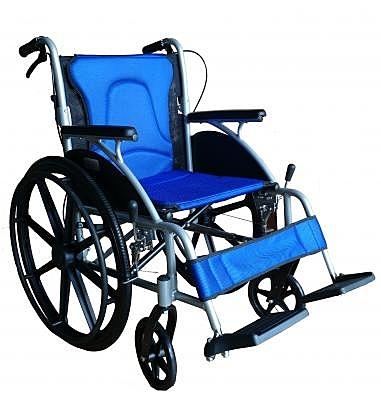 鋁製輪椅 B款補助 塑鋼大輪可折背 高透氣可拆坐背墊 FZK-1500