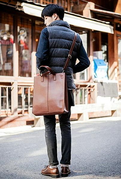 韓國簡約 手提包 文件包 公文包 側背包