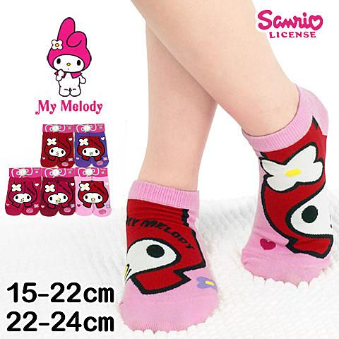 三麗鷗 直版襪 大頭美樂蒂款 台灣製 Sanrio
