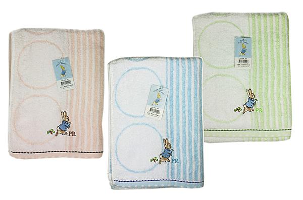 【卡漫城】 彼得兔 小浴巾 60x120cm 剩綠色 ㊣版 Peter Rabbit 小涼被 毛巾 無捻精繡 純棉
