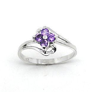 925銀 天然紫水晶戒指