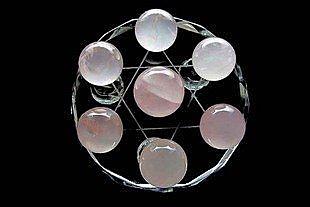天然水晶  紅鸞桃花陣 防輻射七星陣