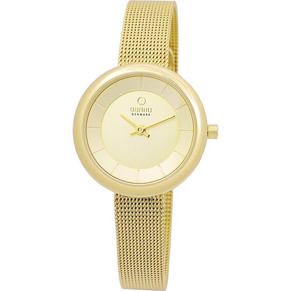 OBAKU 雅悅媛式時尚米蘭腕錶-金色