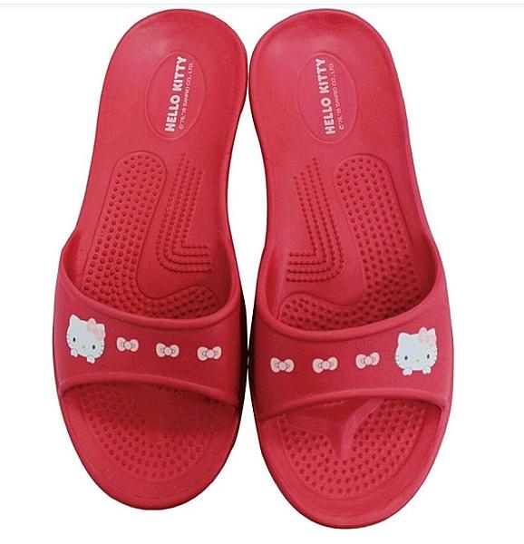 超可愛Kitty 防滑室內外出兩用拖鞋(紅、紫)