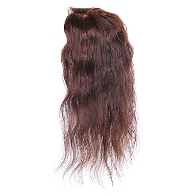 假髮片(真髮絲)-35cm捲髮補髮塊透氣女假髮2色73us18[時尚巴黎]