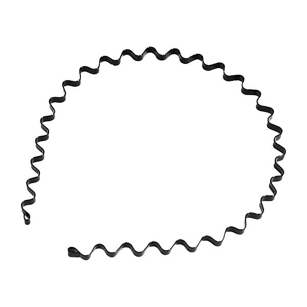 日韓款 波浪髮箍 髮箍 頭飾 金屬/細版/質感黑【D018】