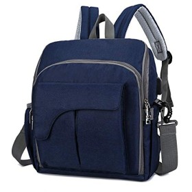 Women Backpack Outdoor Large Capacity Backpack Fashion Casual Business Bag (Blue)