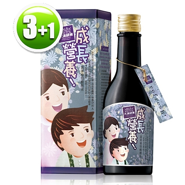 【買3送1】大漢酵素 成長營養蔬果植物醱酵液(300ml/瓶)x3