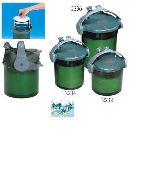 { 台中水族} 德國EHEIM伊罕---新易型機械人 #2232圓桶過濾器 特價
