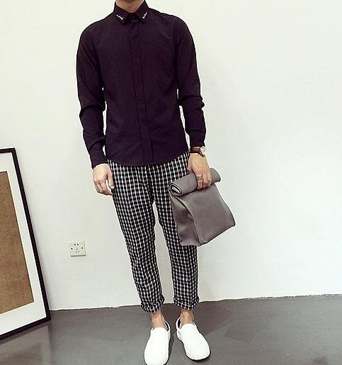 歐美 刺繡 暗黑 襯衫 高品質 正式 LV.GU.LOVE.品牌