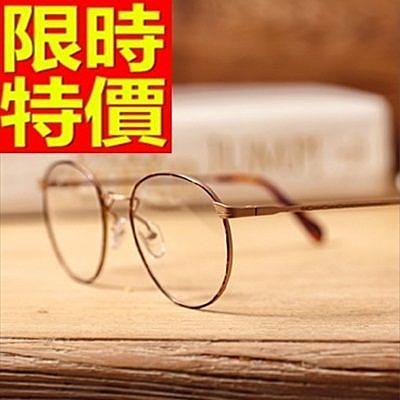 眼鏡架-復古文藝圓框細框女鏡框2色64ah29【巴黎精品】