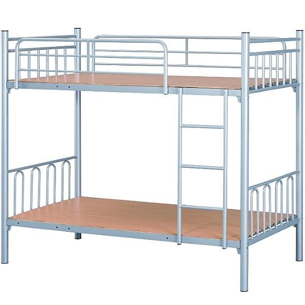 雙層床 AT-601-2 雙層鐵床(烤銀) (不含床墊) 【大眾家居舘】