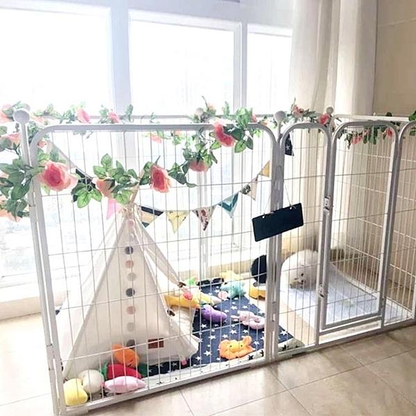 狗狗柵欄圍欄室內寵物圍欄大型犬中小型犬狗籠子泰迪金毛隔離門欄