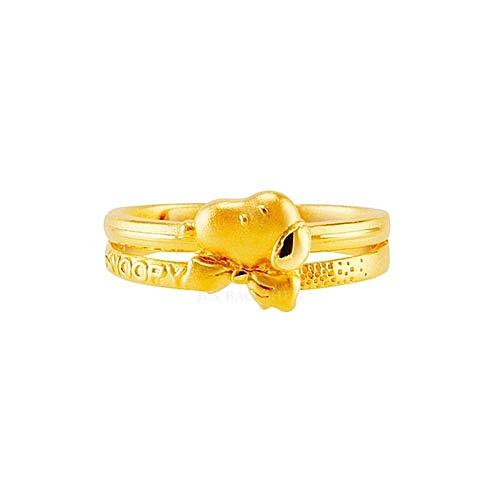 史努比SNOOPY-專屬守護-黃金戒指