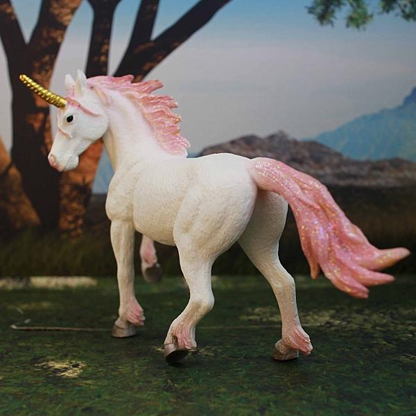 《MOJO FUN動物模型》動物星球頻道獨家授權 -獨角獸-粉彩