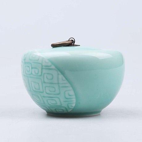 高檔手工陶瓷創意存茶罐