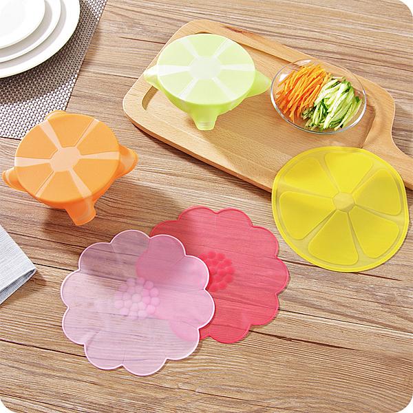 多功能水果花型密封蓋 矽膠保鮮蓋 糖果色保鮮膜  冰箱食物保鮮 可重複 廚房用品【SV6696】BO雜貨