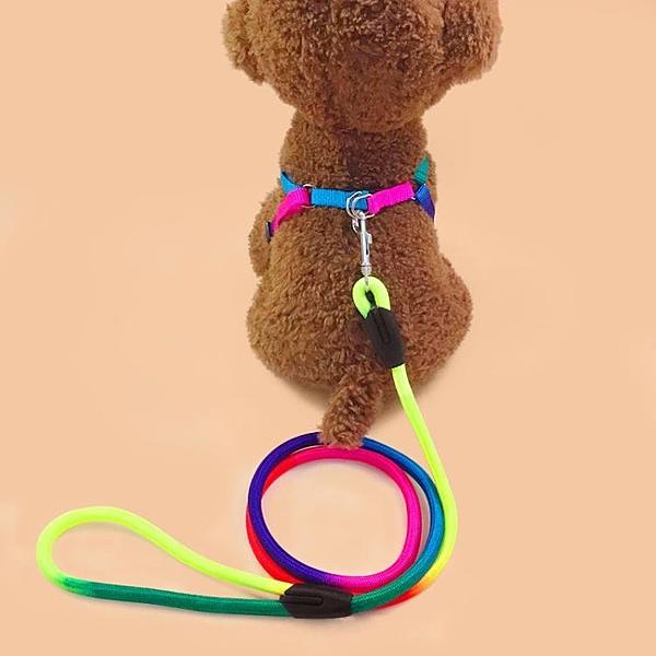 牽繩狗鍊子小狗狗牽引繩泰迪中小型犬幼犬胸背帶遛狗繩貓繩子寵物用品