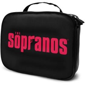ザ・ソプラノズ The Sopranos 化粧品収納ボックプロ用化粧ペンポケット メイクボックス 化粧道具入れ ジッパー付き 大容量 多機能 持ち運び便利 自宅 出張 旅行用 男女兼用
