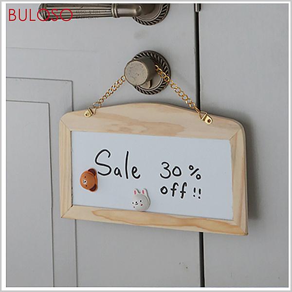《不囉唆》木製黑白雙面鏈條掛式小黑板 留言板/白板/公告欄/塗鴉(不挑色/款)【A408634】