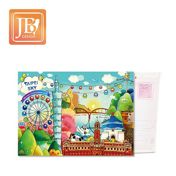 JB Design畫布明信片-107_台北天空