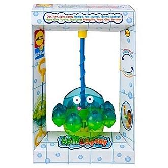 【美國ALEX】859W  兒童洗澡玩具 旋轉噴水章魚 /組
