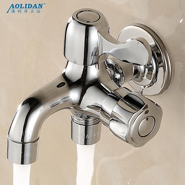水龍頭 全銅單冷水龍頭雙用多功能雙頭多用一進二出三通