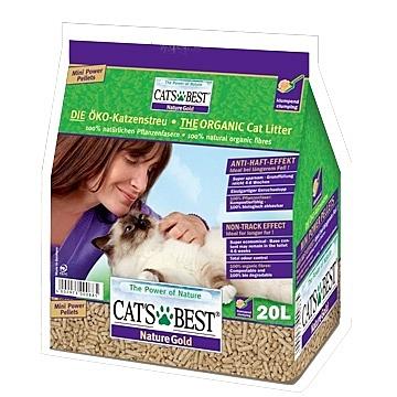 【寵物王國】【免運費】CAT'S BEST 凱優紫標特級無塵凝結木屑砂20L(10KG)