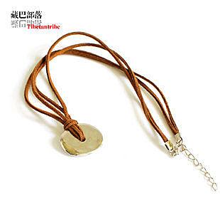 情侶版項鏈 韓飾和睦鍍銀掛墜皮繩
