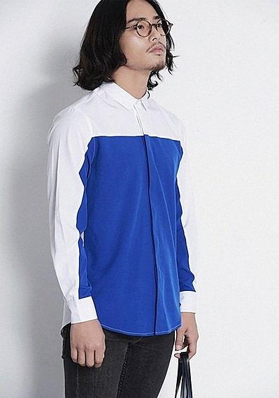 【找到自己】韓國拼接 拚色 襯衫 歐美大牌 設計概念 經濟實惠 平價時尚 找好貨 請追蹤