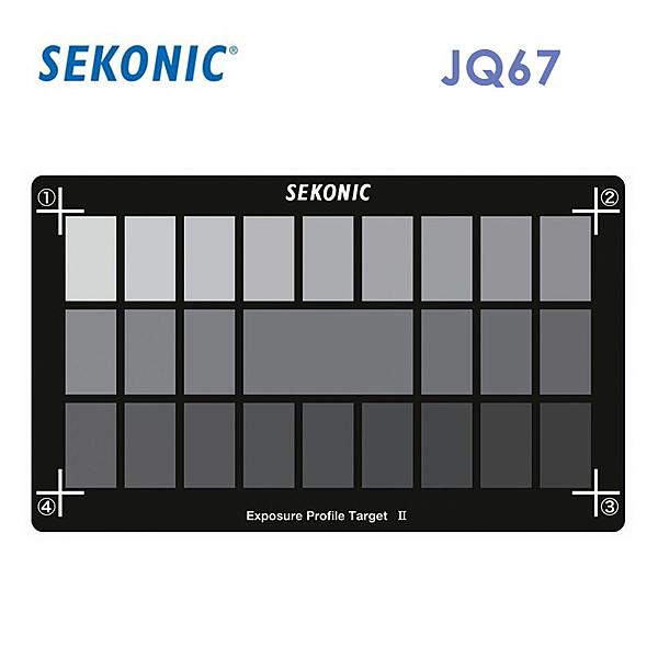 黑熊館 Sekonic JQ67 曝光測試導表 II 25格專業級灰卡 灰階卡 18% 白平衡 校準工具