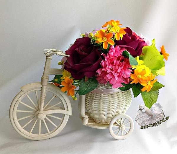 腳踏車造型婚禮花球  禮桌花藝☆插花.居家.店面.櫥窗.玄關.大廳擺飾☆