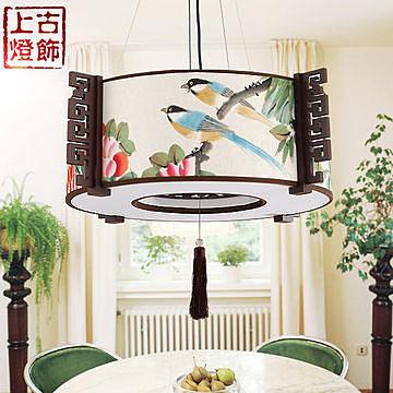 簡約 古典布藝水墨丹青畫 燈具