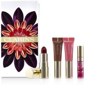 クラランス Love Your Lips Collection (2x Lip Perfector, 1x Lipstick, 1x Lip Comfort Oil) 4pcs並行輸入品