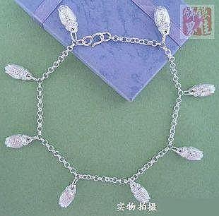 銀 玉米鈴鐺腳鏈8個鈴鐺 數量可隨意 銀