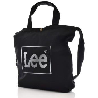 [リー] ロゴ ビッグ トートバッグ ショルダーバッグ 2way メンズ レディース 0425371 ワンサイズ ブラックシルバー