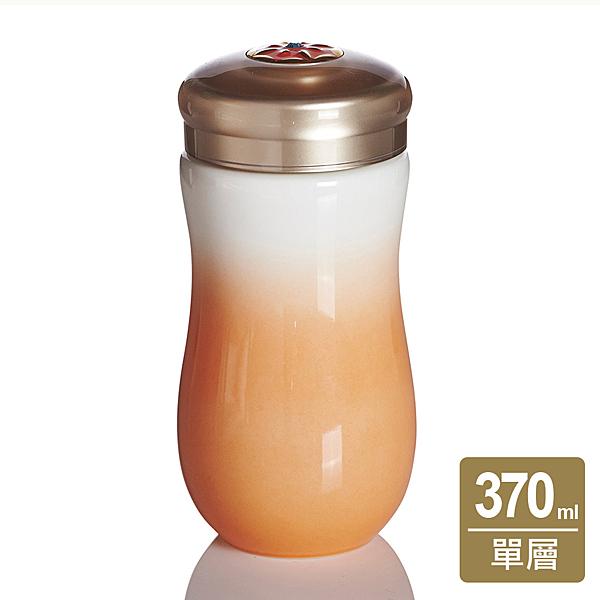 《乾唐軒活瓷》吉星甜心隨身杯 / 中 / 單層 / 白粉橘 / 水晶