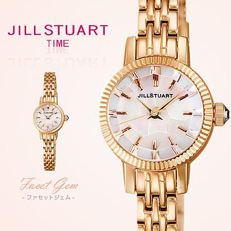 JILL STUART玫瑰金秀氣珍珠母貝錶盤腕錶 切割面玻璃 女孩日本限量 柒彩年代【NE1008】原廠公司貨